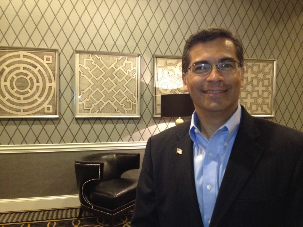 L.A. Democratic Congressman Xavier Becerra will be on hand as an official party surrogate at Thursday's VP debate.