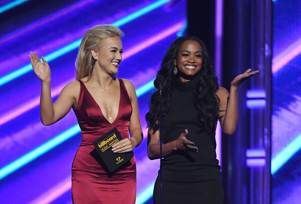 Miss America 2017 Savvy Shields (L) and television personality Rachel Lindsay present an award during the 2017 Billboard Music Awards at T-Mobile Arena on May 21, 2017 in Las Vegas, Nevada.