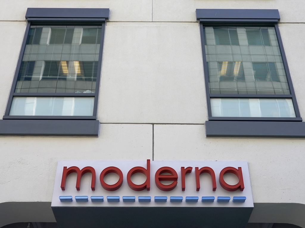 Federal regulators have granted an emergency use authorization to the vaccine developed by Moderna, whose Cambridge, Mass., headquarters are seen here.