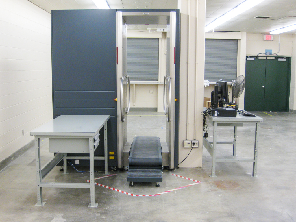 One of the full-body scanners that will be installed at L.A. County jails as part of a pilot program intended to reduce strip searches, which can be a source of tension between inmates and deputies.