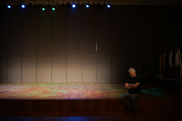 Tim Robbins, center, leads a rehearsal of