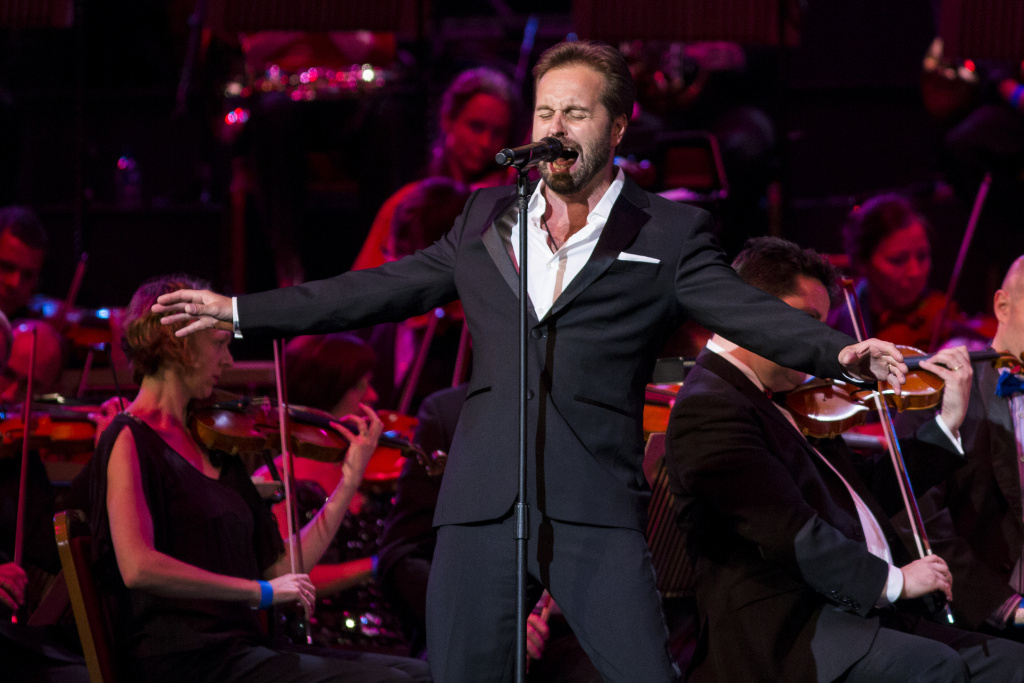 Tenor Alfie Boe performs the parts made famous by Roger Daltrey in the original recording of the rock opera