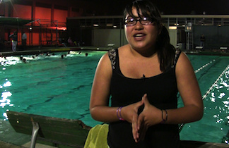 Ariana Gomez is one of the participant in the water polo program.