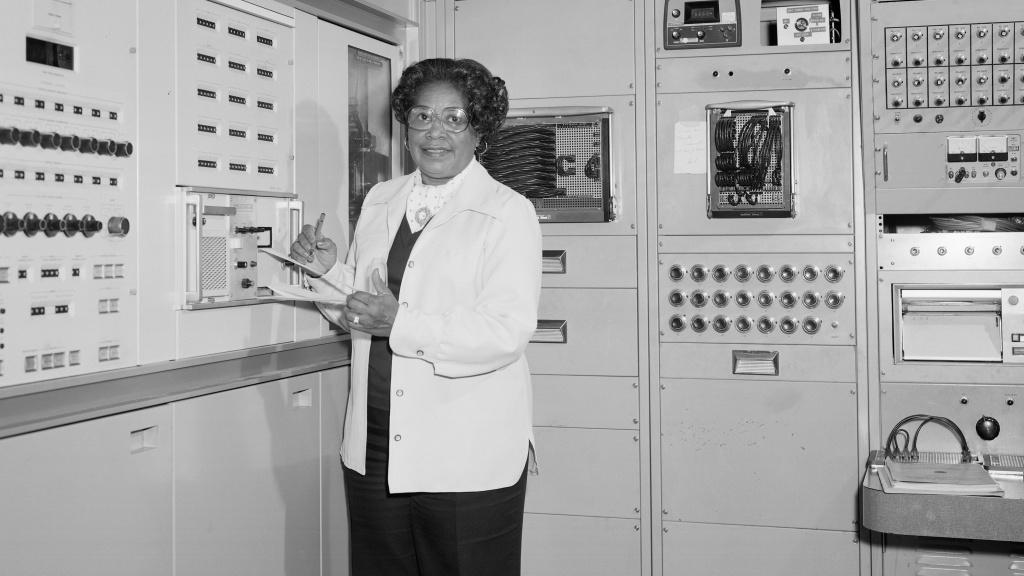 Mary Jackson, NASA's first Black female engineer, in 1977 at NASA's Langley Research Center in Hampton, Va.
