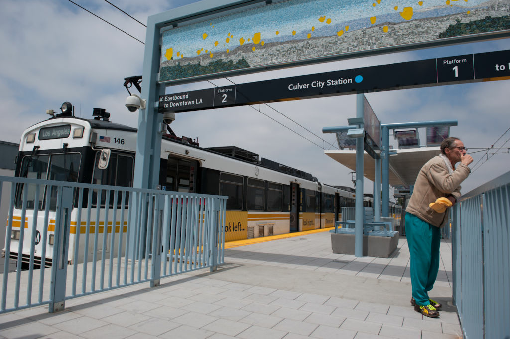 FILE PHOTO: The Expo Line stop in Culver City.