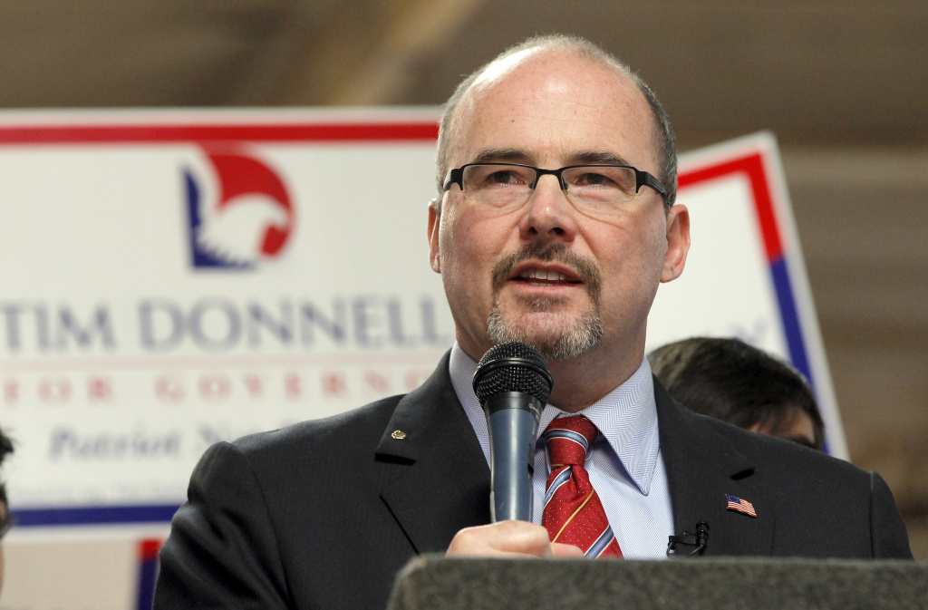 Assemblyman Tim Donnelly, R-Twin Peaks announces he's running for California Governor, in Baldwin Park, Calif., Tuesday, Nov. 5, 2013.
