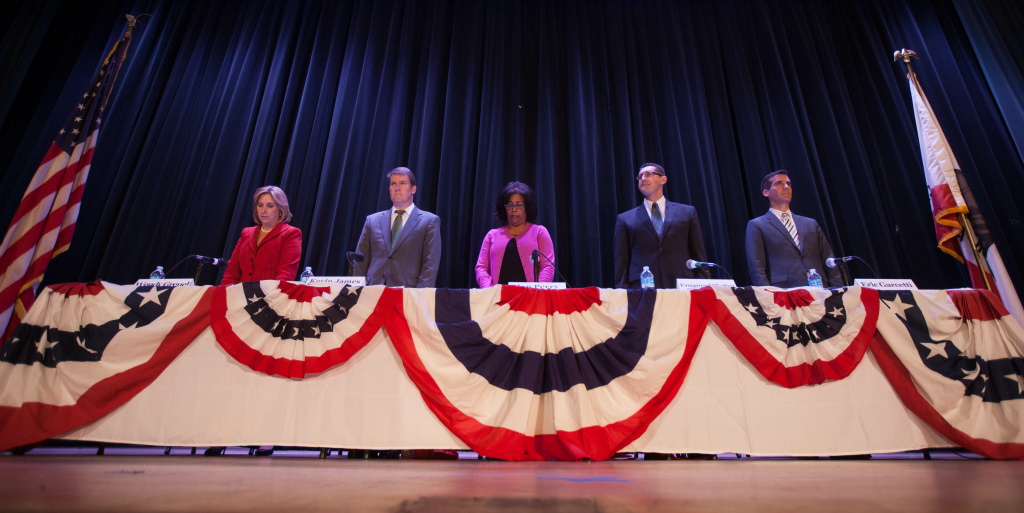 Kevin James and other mayoral candidates take part in two candidate forums.