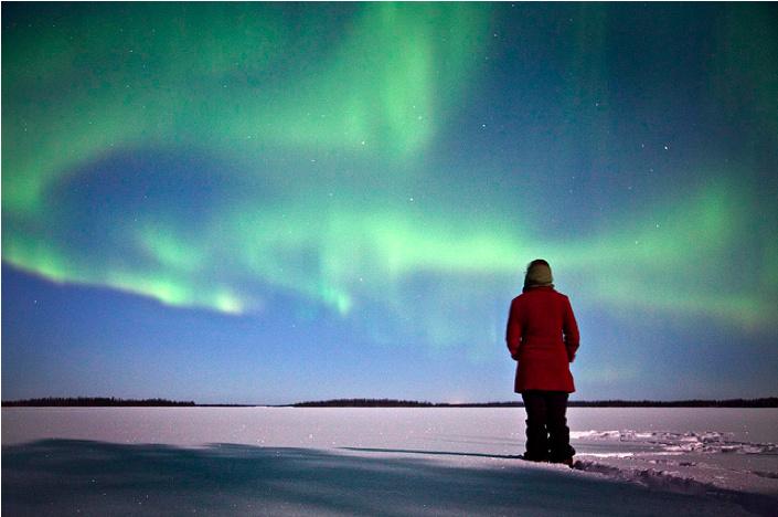 Mar. 7, 2012 - Finland, Aurora Borealis