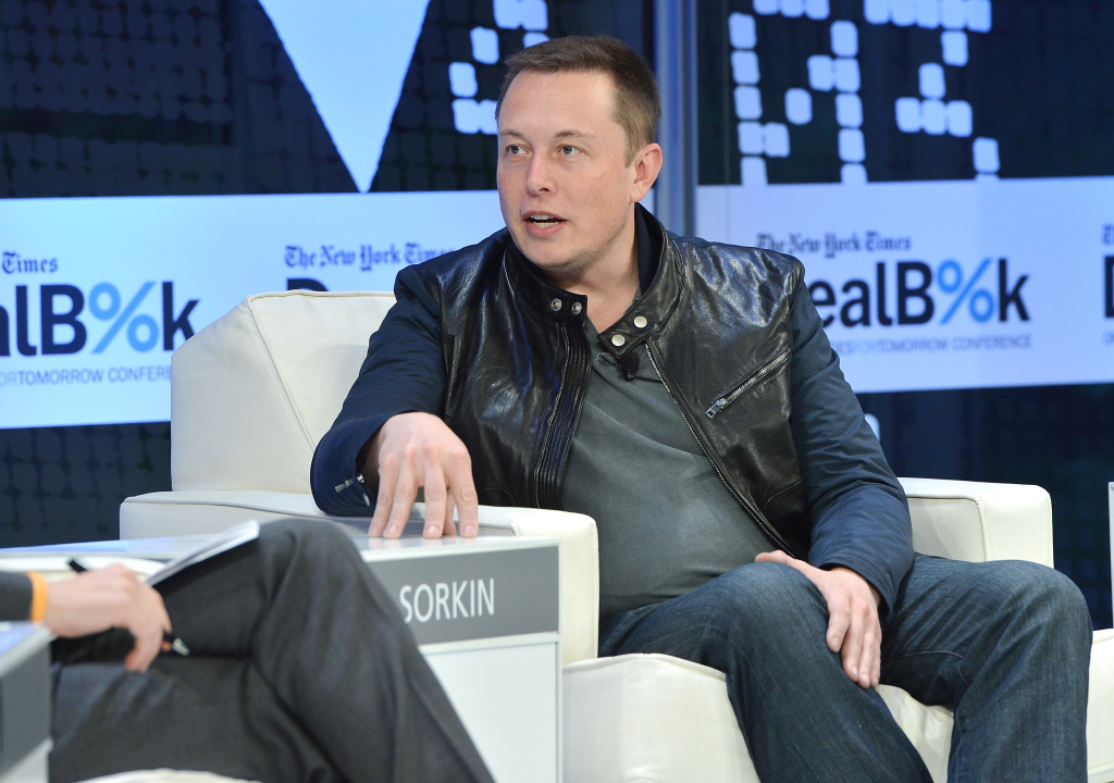 SpaceX CEO Elon Musk participates in a discussion at the New York Times 2013 DealBook Conference in New York at the New York Times Building on November 12, 2013 in New York City.