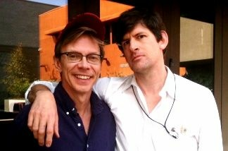 Actor and writer David Dean Bottrell (left, with Off-Ramp host John Rabe), comes to KPCC to talk about his one-man show,