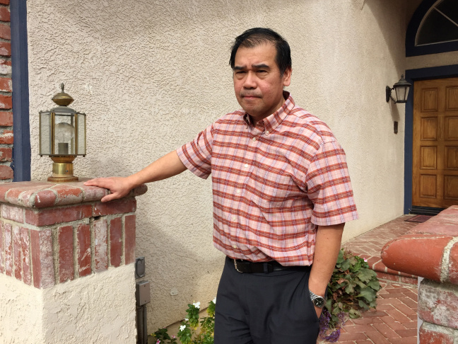 Ruben Samson at his home in Porter Ranch, which he's owned since 1991. Now he's worried the natural gas leak will cause his home to lose value.