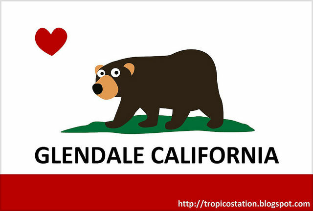 A flag created for the Glendale Bear.