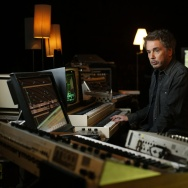 French composer, performer and music producer Jean-Michel Jarre poses at his recording studio in Bougival, west of Paris, on September 30, 2015.