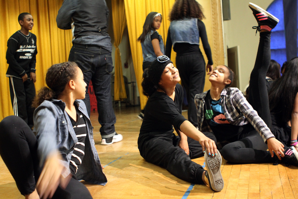 In this file photo, Eliot Middle School dance students get ready to perform at Madison Elementary in Pasadena.