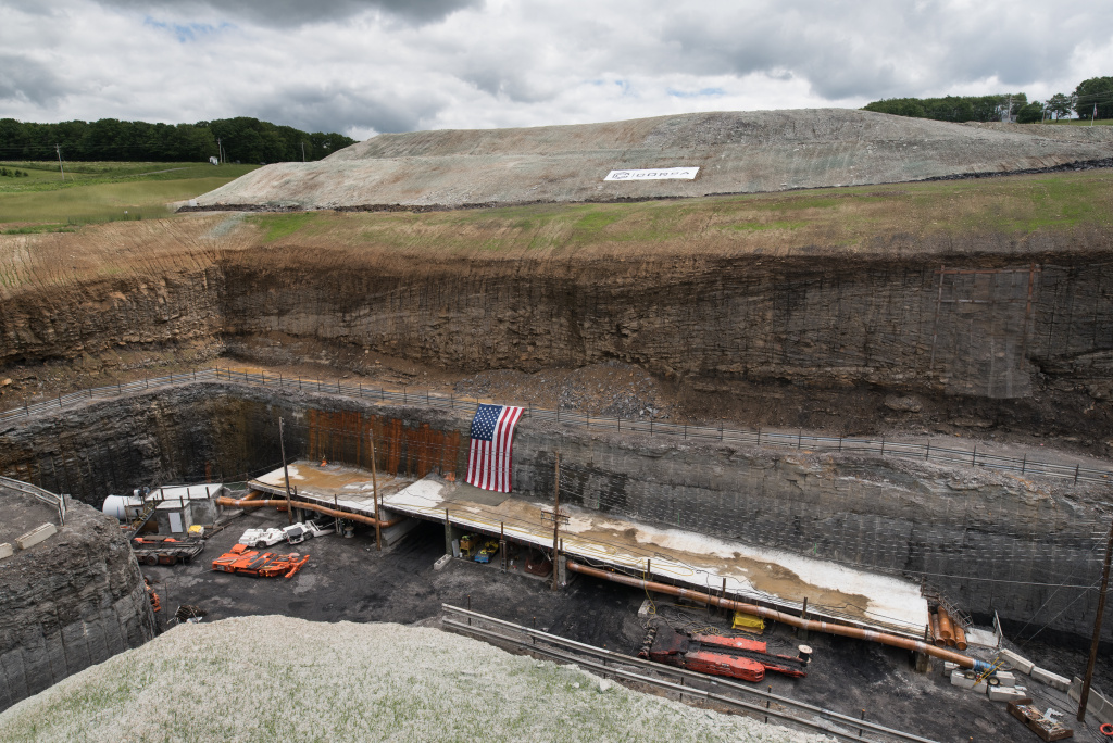 Mining operations are underway at Corsa Coal's Acosta Deep Mine on June 8, 2017 in Friedens, Pennsylvania. The mine recently celebrated its grand opening.