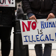 Activists protest for the release of families held in detention centers in Texas and for the closing of the family detention centers on March 24, 2015 in New York City. The protesters rallied outside the Jacob K Javits Federal building, where immigration offices are located.