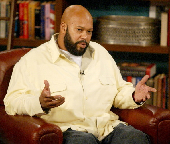 """In this file photo, Suge Knight is shown during an appearance on """"The Late Late Show"""" with Guest Host D.L. Hughley. The former rap mogul was scheduled to appear in court for arraignment on Thursday, February 19, 2015, on a criminal threats charge and for a scheduling hearing in a robbery case, but he was instead taken to a hospital for an undisclosed medical issue."""