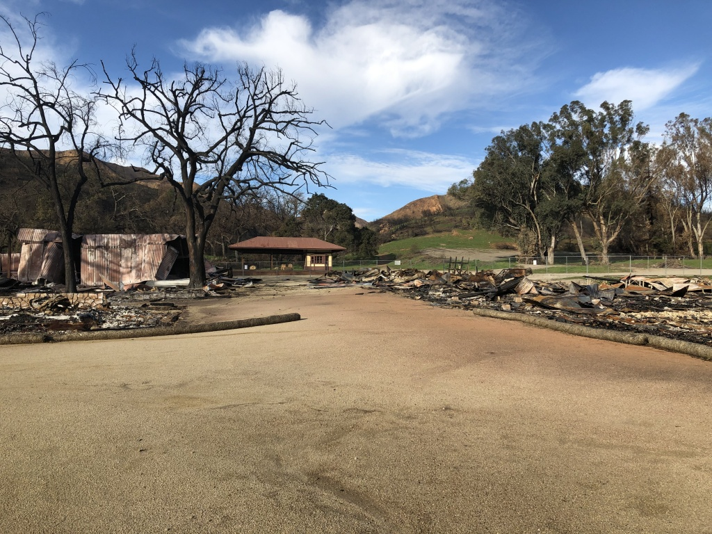 Paramount Ranch about two months after the Woolsey fire first ignited.
