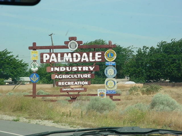 A Palmdale sign.