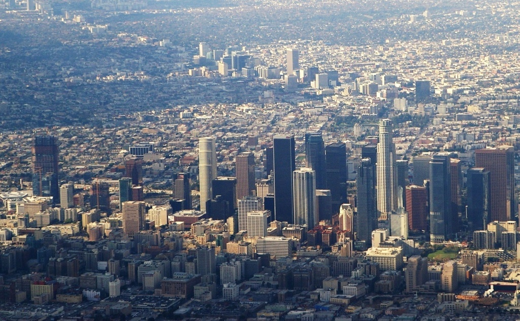 A view of downtown Los Angeles. New population figures released by the California Department of Finance state that 10 million people call the city home.