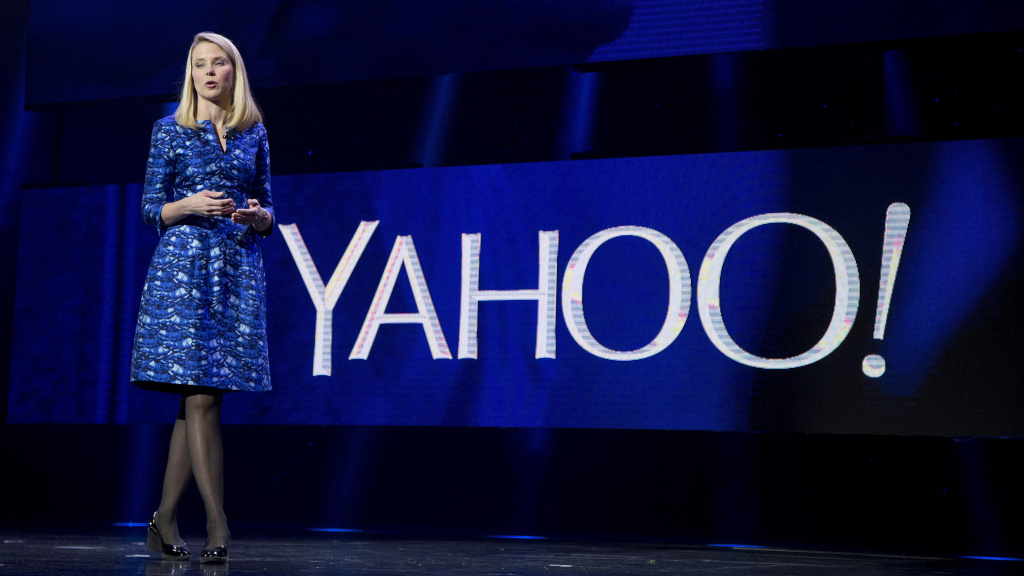 Yahoo CEO Marissa Mayer, seen in 2014, wrote a farewell post to employees titled
