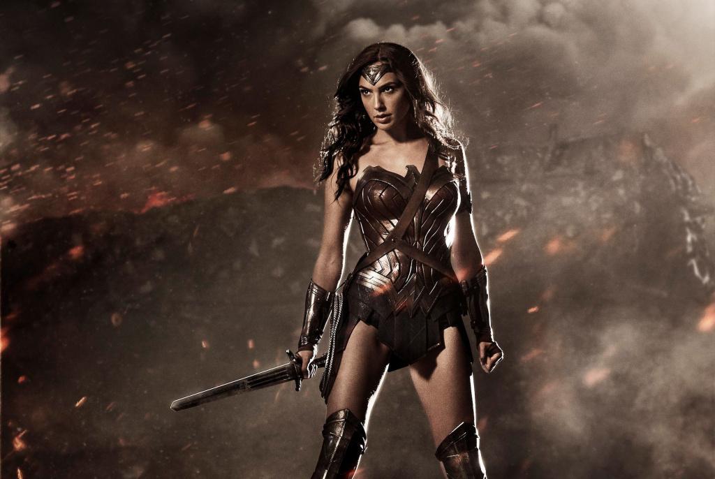Gal Gadot as Wonder Woman in a publicity still.