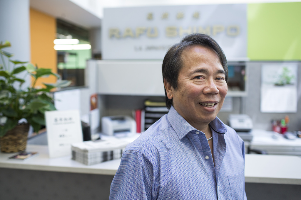 Michael Komai is publisher of Japanese-English language newspaper Rafu Shimpo in Little Tokyo. Komai's family has run the paper for generations.
