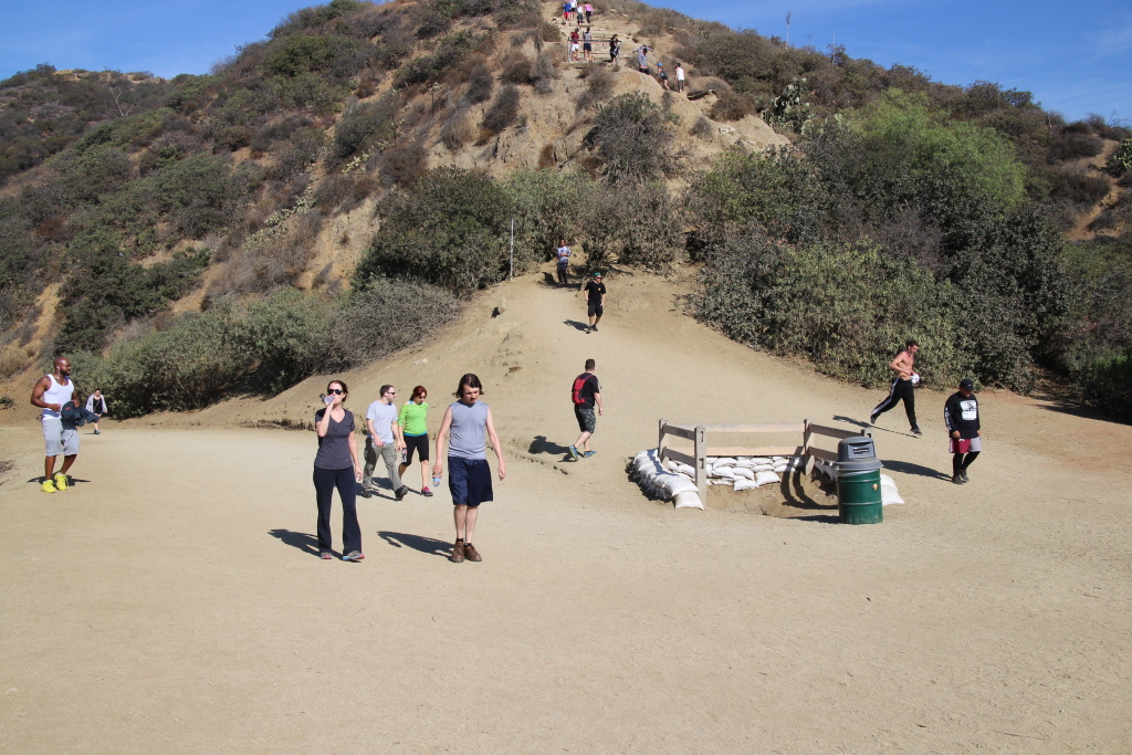 In this file photo, hikers and joggers climb the trails at Runyon Canyon Park.