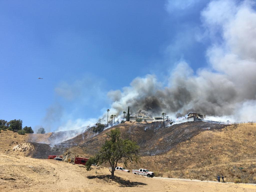 The Kendall Fire burns in San Bernardino on July 2, 2016.