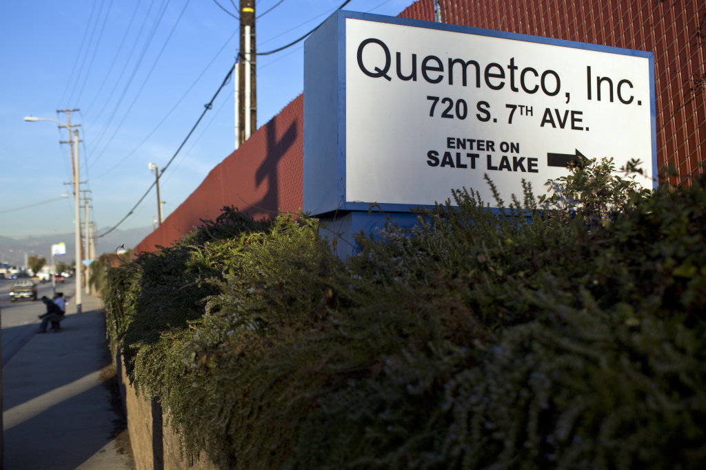 Quemetco recycles 600 tons of lead from batteries each day.