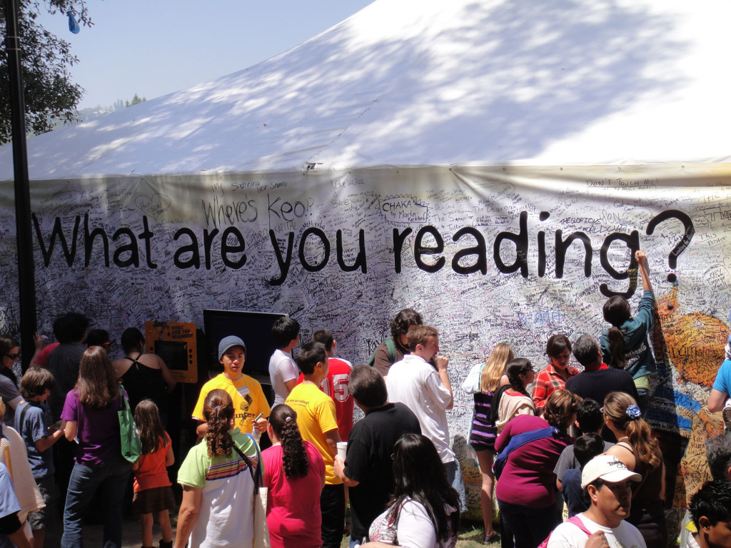 File: The Los Angeles Times Festival of Books in 2010.