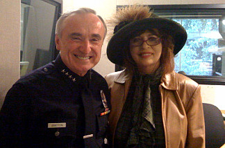 Patt and Chief Bratton pose for their last-ever Ask the Chief photo