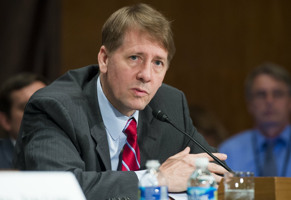 Director Richard Cordray of the Consumer Financial Protection Bureau testifies about the unauthorized opening of accounts by Wells Fargo during a Senate hearing on September 20, 2016.
