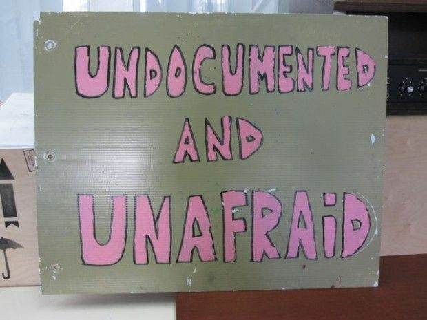 A poster at a pro-Dream Act student gathering place in Los Angeles, December 2010