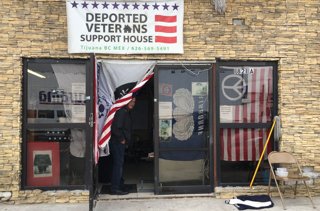 The Deported Veterans House has become a gathering place for veterans stranded in Tijuana after deportation. Organizers there have a database with 350 deported veteran cases, an indication, they say, that the real count is much higher.