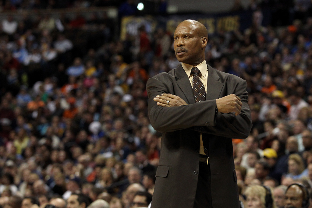 Byron Scott of the Cleveland Cavaliers looks on against the Denver Nuggets at Pepsi Center on January 11, 2013 in Denver, Colorado.