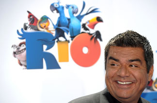 Actor George Lopez arrives at the premiere of Rio at the Chinese theater in Hollywood, California, on April 10, 2011.