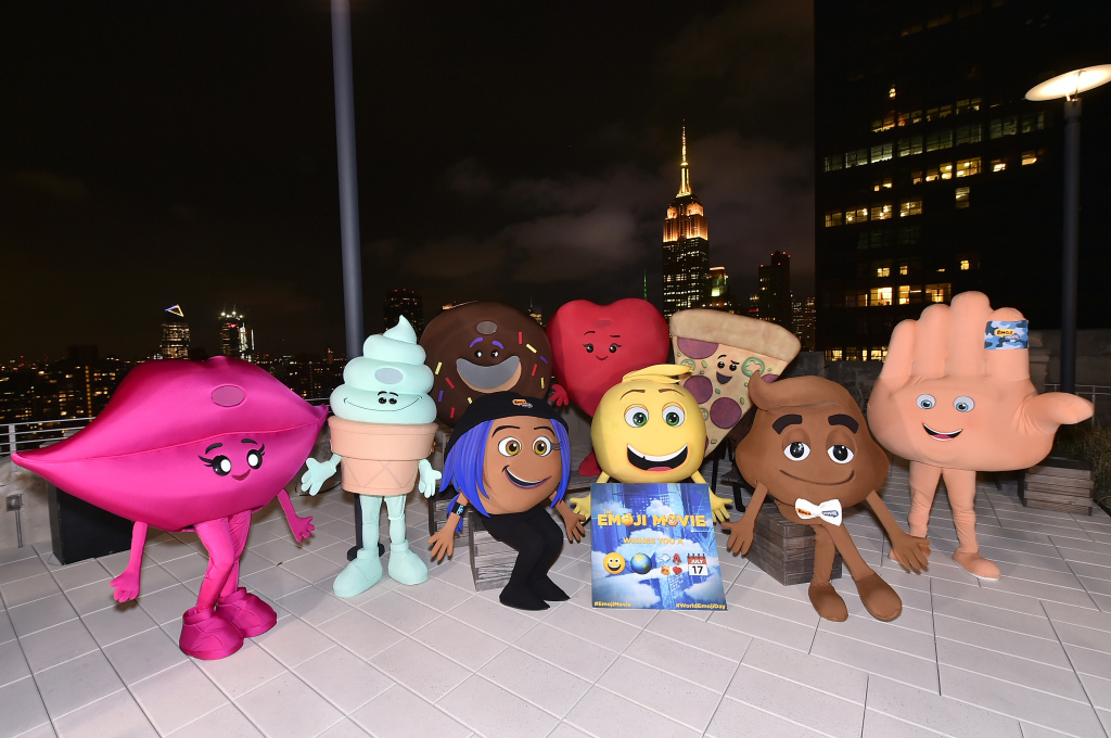 The cast of The Emoji Movie on July 17, 2017 in New York City.