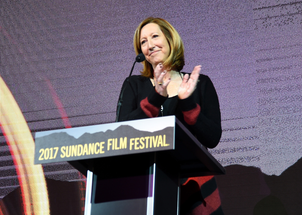 PARK CITY, UT - JANUARY 28:  Sundance Institute Executive Director Keri Putnam speaks during the 2017 Sundance Film Festival Awards Night Ceremony at Basin Recreation Field House on January 28, 2017 in Park City, Utah.  (Photo by Nicholas Hunt/Getty Images for Sundance Film Festival)