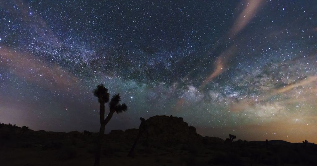 The Milky Way over Joshua Tree National Park.
