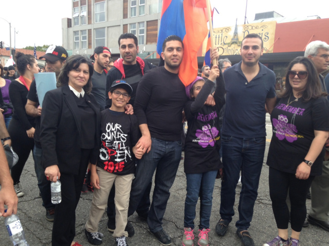 Young protester at the March for Justice rally in Los Angeles commemorating the 100th anniversary of the Armenian Genocide, April 24, 2015.