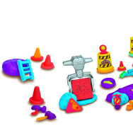 Play-Doh has lots of characters, such as Max the Cement Mixer, pictured here.  They're cute, but no one seems to know if they can act.