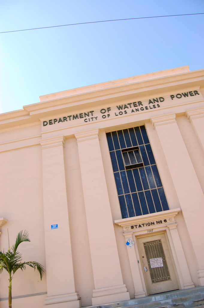 The Los Angeles Department of Water and Power building.
