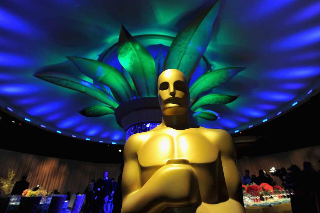 The Oscar statue in the Grand Ballroom at the 83rd Academy Awards Governors Ball preview on February 9, 2011 in Beverly Hills, California.