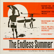 Art for the 1966 documentary THE ENDLESS SUMMER