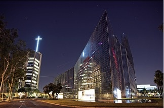 The Crystal Cathedral in Garden Grove, CA.