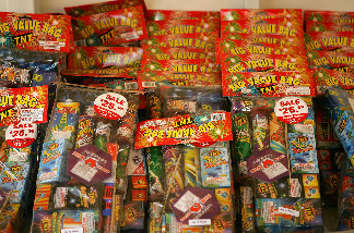 The Fillmore First Assembly Church sells fireworks for upcoming July 4th celebrations on June 30, 2008 in Fillmore, California.