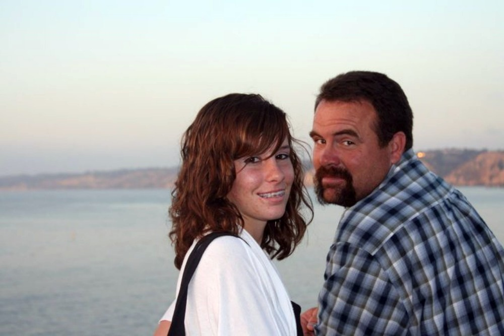Alexis Vaughan and her father Michael.