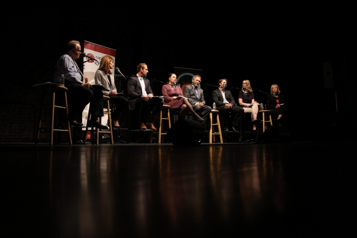 The California Counts Town Hall was moderated by Larry Mantle, host of KPCC's AirTalk, and Beth Ruyak, host of Capital Public Radio's Insight. It was hosted by California Counts, a collaboration with KPCC in Los Angeles, KQED in San Francisco, Capital Public Radio in Sacramento and KPBS in San Diego.