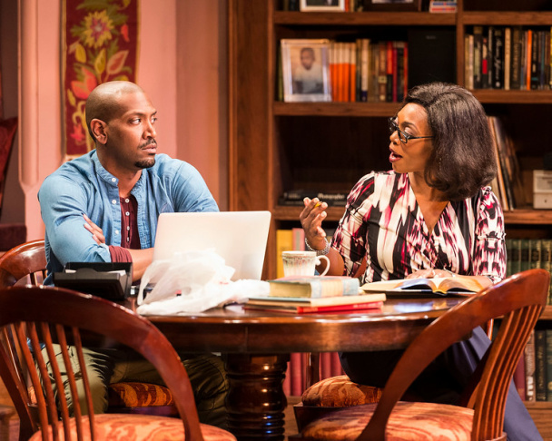 "L-R: Bryan Terrell Clark and Mark Jude Sullivan in Paul Oakley Stovall's ""Immediate Family,"" directed by Phylicia Rashad, playing April 22 through June 7, 2015, at the CTG/Mark Taper Forum."